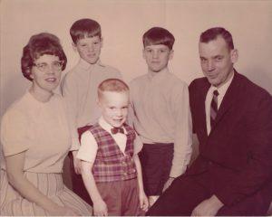 Dan Laughlin and his family